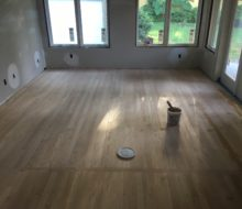Woodwise filler on Red Oak clear grade flooring - addition.