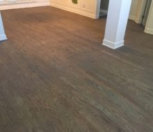 Dark gray stained Red Oak flooring