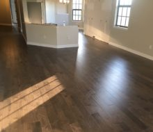 Birch wood flooring installed