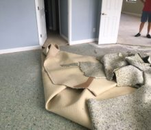 Condo carpeting removal