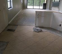 Condo tile and carpeting to be removed