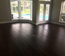 Installed Maple hardwood flooring
