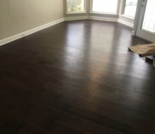 Installed Maple hardwood flooring