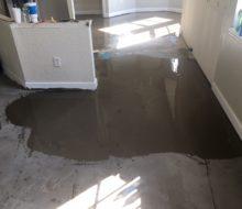 Lots of leveling - condo concrete subfloor