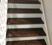 Installed solid Maple stair treads