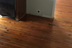 refinished heart pine knotty yellow pine wood flooring