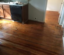 Refinished heart pine and knotty yellow pine flooring