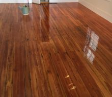 Refinished old pine wood floors in historic St. Augustine
