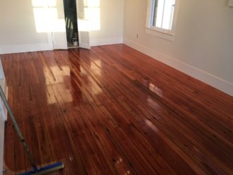 Water damaged pine floor refinishing historic st augustine for Flooring st augustine