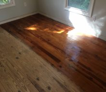 Refinishing heart pine and knotty yellow pine flooring