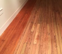 Refinishing sanded old pine wood floors