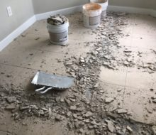 Removing old condo tile