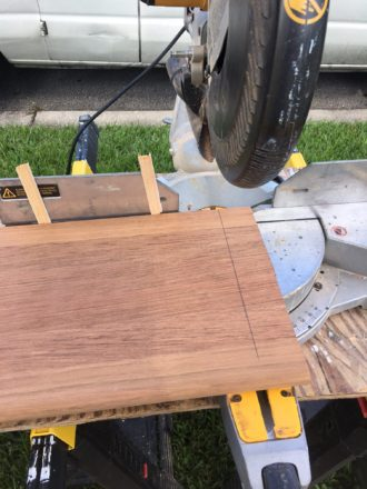 Cutting Brazilian Cherry Stair Treads