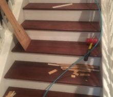 Installing Brazilian Cherry stair treads