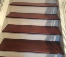 New Brazilian Cherry stair treads