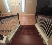 New Brazilian Cherry stair treads
