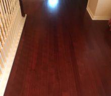 New wood flooring installed upstairs
