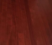 New wood flooring, provided by client and installed by Dan's Floor Store