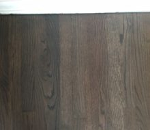 Refinished solid red oak flooring