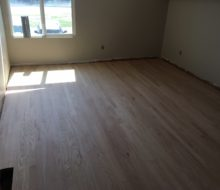 Sanded solid red oak flooring