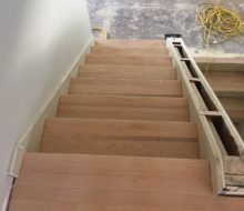 Stair treads sanded for refinishing