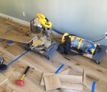 Installing wire brushed European White Oak flooring