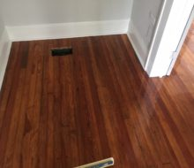 Sanded and Refinished old Heart Pine flooring