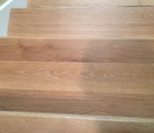 Solid White Oak stair treads