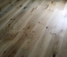 Wire brushed European White Oak flooring
