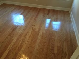 Refinished peeled Red Oak flooring