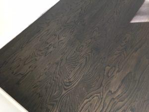 Refinished, water damaged red oak flooring