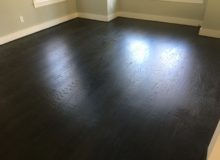 Refinished, water damaged red oak flooring