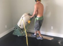 Rough sanding wood floor
