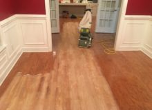 Sanding peeled Red Oak floor