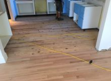 Whitened old wooden floor