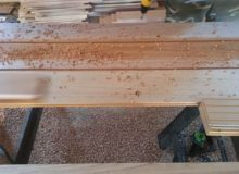 Laying out holes for walnut pegs