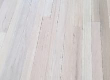 Whitened, mixed red and white oak flooring