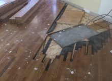 Completing plywood underlayment
