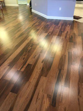 Brazilian Pecan Hardwood Flooring Installation Palencia