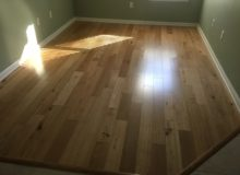 Engineered white oak wood flooring