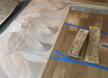 Installing engineered white oak wood flooring
