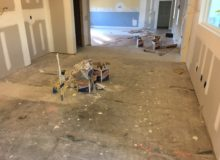Moultrie Creek project kitchen slab - pre-prep