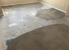 Concrete slab - leveled for wood flooring installation