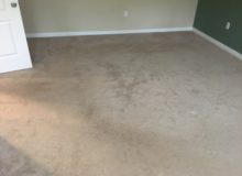 Old carpeting to be removed