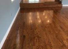 Applying finish to red oak flooring