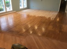 Weave-in repair of red oak flooring