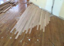 Weave-in repair of red oak flooring