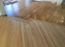 Red oak flooring weave-in and steps