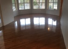 Refinishing repaired red oak flooring