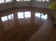 Refinishing repaired red oak flooring